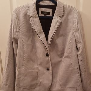 Talbots striped blazer